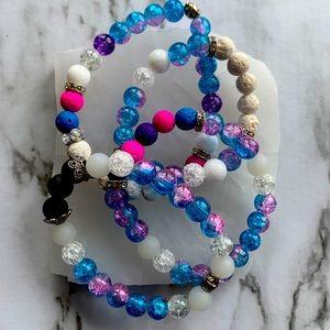 2/30$ Unicorn Dreams Gem Bracelets 4 Options